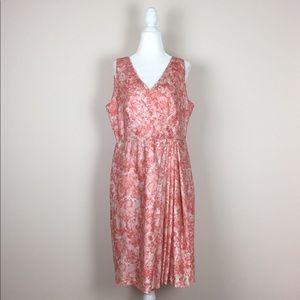 Talbot's - Floral Faux Wrap Dress